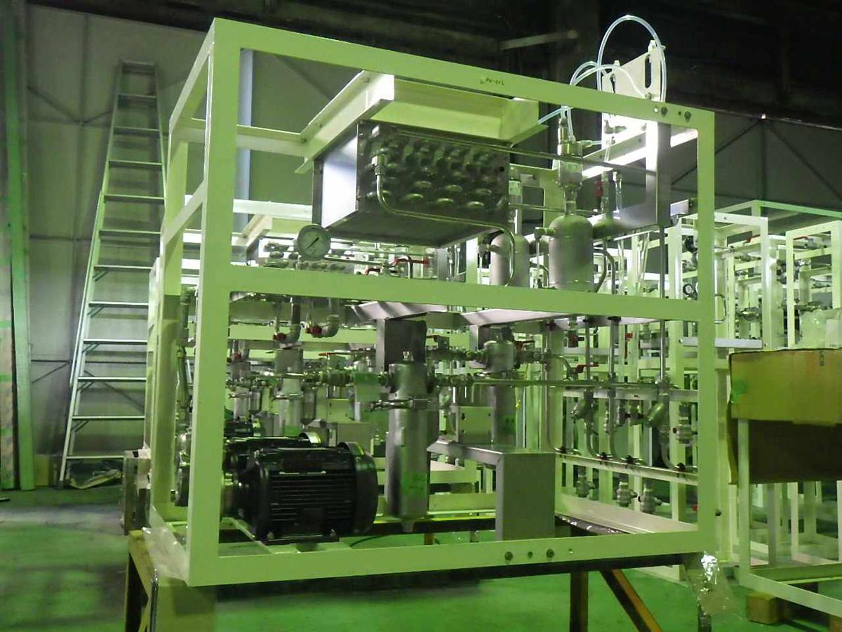 油脂類供給配管ユニット